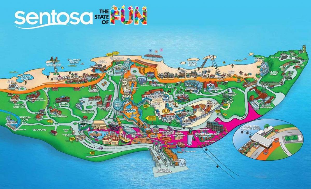 Sentosa Island Map Sentosa island map   Map of sentosa island (Republic of Singapore)