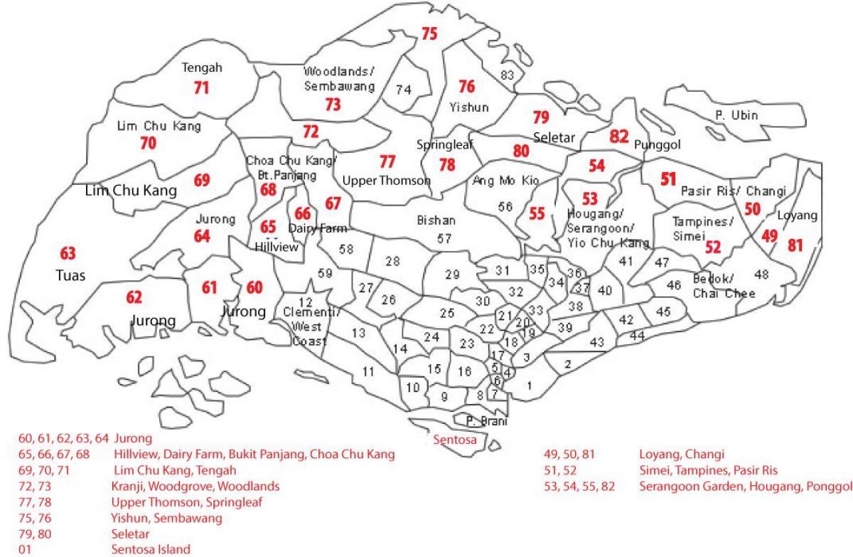 Sg Postcode Map Sg postcode map   Singapore postal code map (Republic of Singapore) Sg Postcode Map