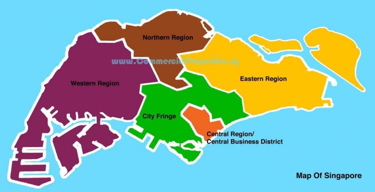 Singapore Neighborhood Map Of: Singapore District Map At Infoasik.co